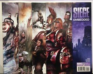 Siege-Embedded-1-4-Set-VF-NM-1st-Print-Marvel-Comics