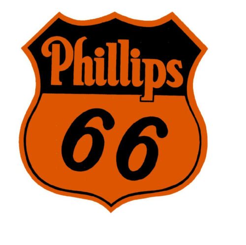 6 INCH PHILLIPS 66 GASOLINE ORANGE VINYL STICKER A881