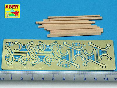 100% Vero Aber D-16 - Photoetched Fotoincisioni Bench Panchina Type A 1/35 Modellazione Duratura