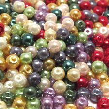 Lot Mixte 200 Perles Nacrées 4mm en verre de Bohème Qualité AAA