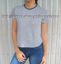 44% OFF! AUTH FOREVER 21 STRIPE TOP TEE LARGE BNEW SRP US $10.90+