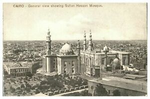 Antique-printed-postcard-Cairo-General-View-Showing-Sultan-Hassan-Mosque