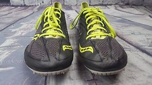 Details about Men's Saucony Endorphin MD3 Track Shoes Grey & Green 20145 4 Size 8