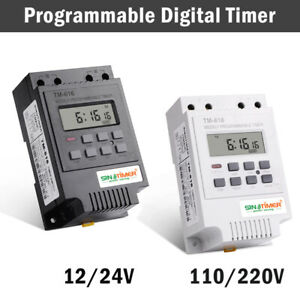 12V-24-110-220V-Rele-Interruttore-Digitale-Power-LCD-Timer-Programmabile-TM616