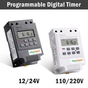 12V-24-110-220V-Rele-Interruttore-Digitale-Power-LCD-Timer-Programmabile-TM616