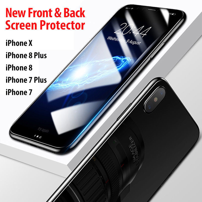 For iPhone Front and Back Film Screen Protector Clear