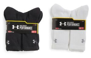 SALE 3 or 6 Pair Under Armour Performance HeatGear Crew Socks LARGE VARIETY