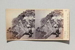 Amalfi-Napoli-Italia-Stereo-Vintage-Albumina-Ca-1865