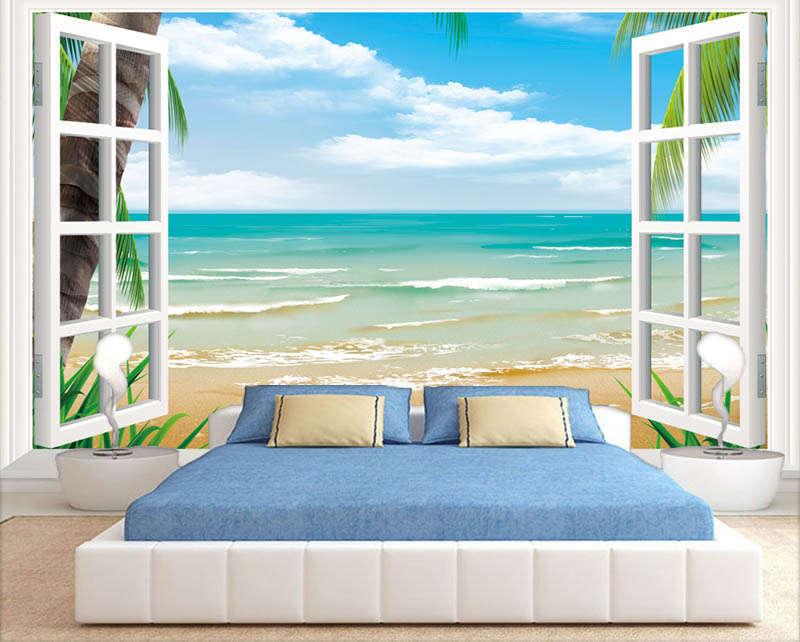 Shallow Blau Sea 3D Full Wall Mural Photo Wallpaper Printing Home Kids Decor