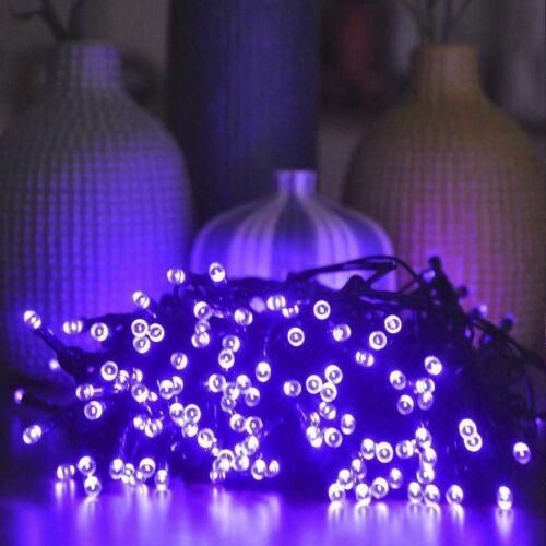 NEW Purple Solar Powered 200 LED String Lights For Garden Outdoor DIY Fairy Lamp