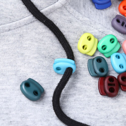 50x Cord Lock Spring Stopper Sliding Fastener Clothing Drawstring Accessories US