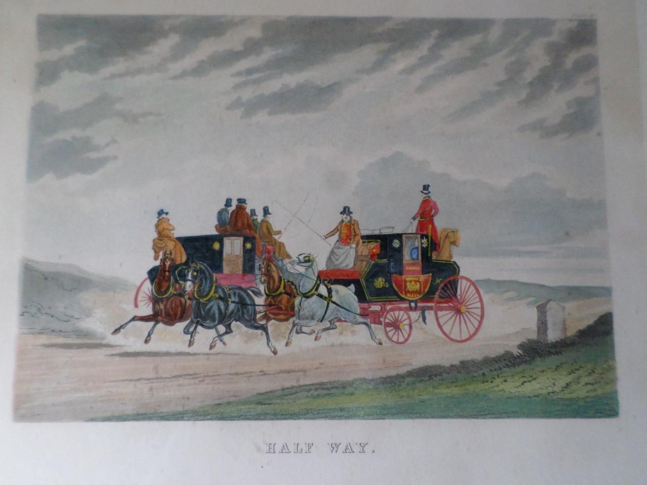 Antique Framed Set of Four C.C.Henderson Horse Carriage Prints