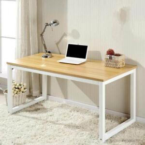 Modern Walnut Wooden & Metal Computer PC Home Office Desk / Study Table Bedroom