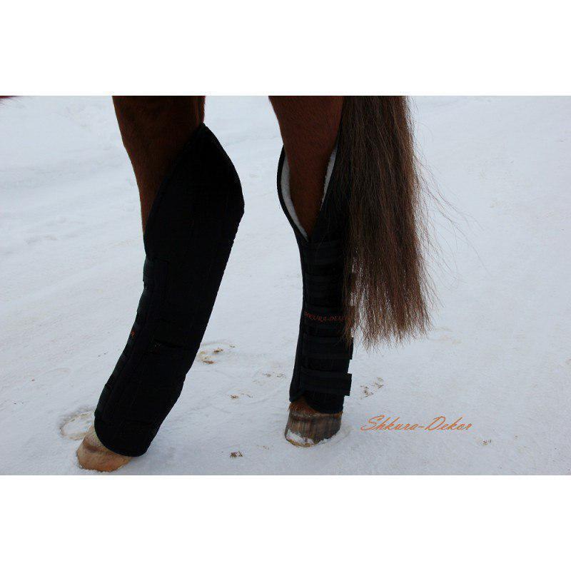 4x Protective Horse Travel Stiefel | 100% 100% 100% Genuine Australian Sheepskin 5cb2d7