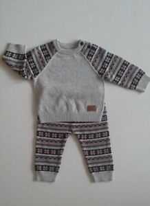 Ex Nutmeg Baby Boys Clothes Knitted Two Piece Outfit 3 6 9 12 12 18 18 24 Months Ebay