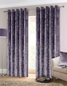 Image Is Loading Luxury Crushed Velvet Heavy Eyelet Ringtop Lined Curtains