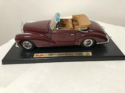 Classic Vintage Mercedes Benz 300S Maisto 1:18 Diecast Model Car Collectible NIB