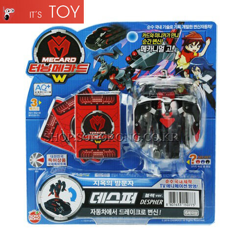 TURNING MECARD W DESPHER Black Transformer Transforming CAR Robot Toy Korean TV