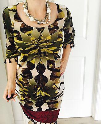 Charlie Brown Designer Floral Print Made In Au Work Dress Sz 8 Ebay