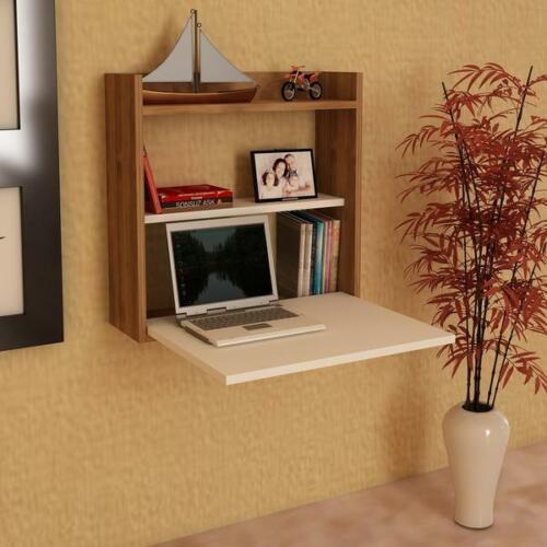 Bureau blanc table d/'ordinateur pc portable Table Bois Table Table de travail avec étagère
