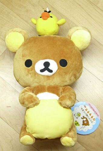"San-X Rilakkuma Relax Bear Chick Plush Doll Toy Brown Cute Teddy 12/"" Very Rare!!"