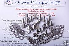 MGB Pedal box Fitting Kit (Stainless Steel). Most Models