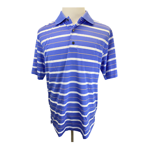 Details about FootJoy mens golf polo striped shirt size large athletic