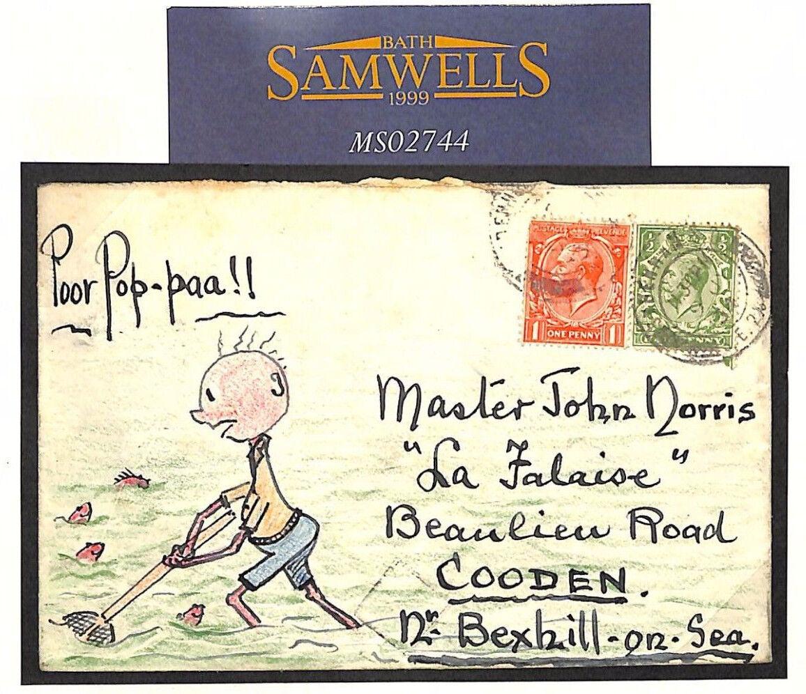 MS2744  1934 GB ilustrado a mano  Bexhill-on-Sea  Sussex cubierta de pesca camarón  precios bajos
