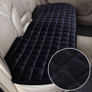 Black-Universal-Rear-Car-Auto-Seat-Cover-Plush-Protector-Mat-Chair-Cushion-UK