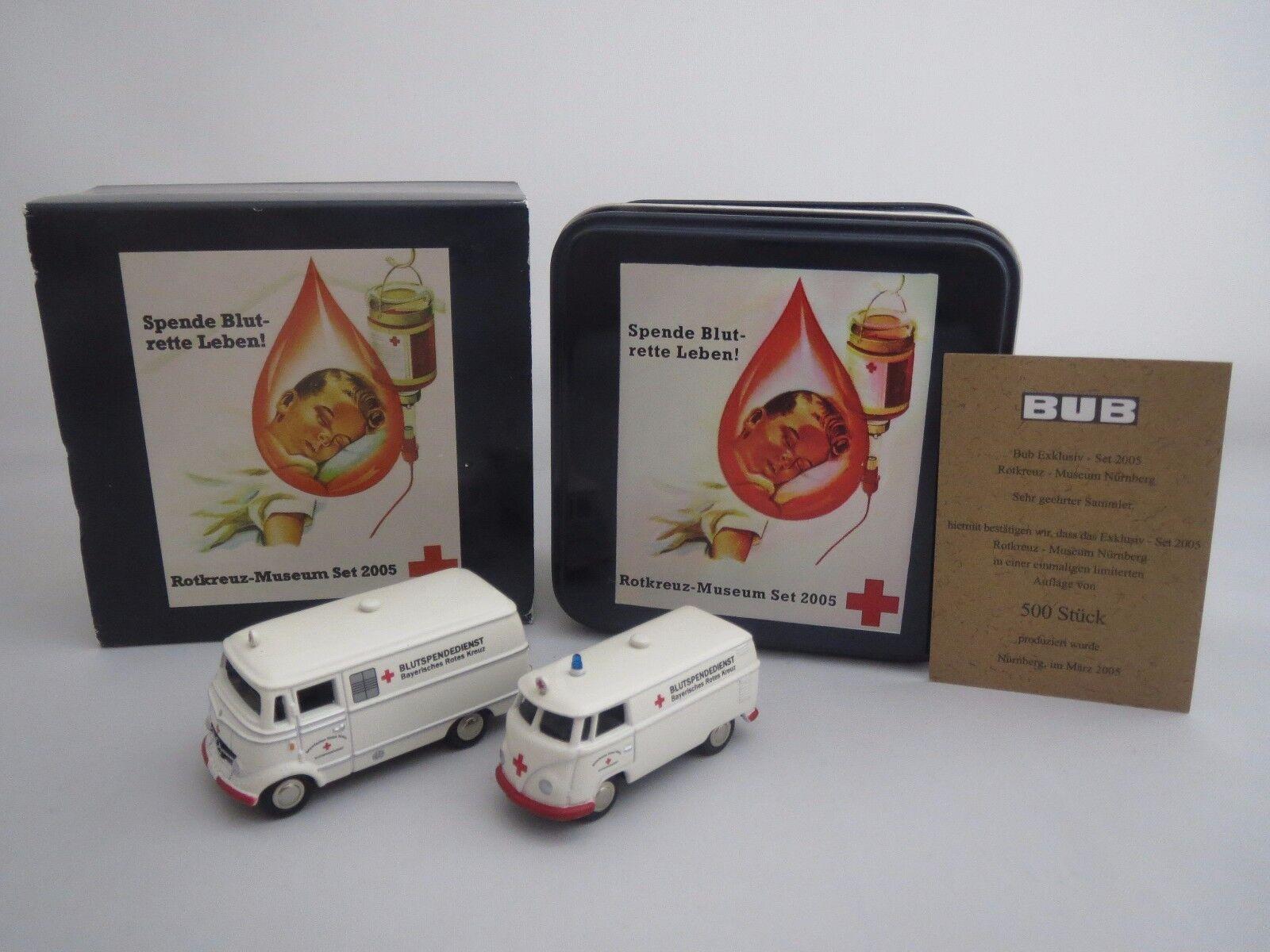 Bouèbe Mercedes-Benz l319 & VW Transporter (croix-Musée Nuremberg) 1 87 Neuf dans sa boîte