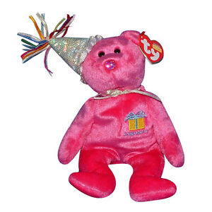 Ty Beanie Baby January - MWMT (Bear w  Hat 2003) Birthday  398339a29977