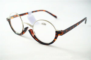 Half Frame Reading Glasses Specsavers : Retro Vintage Half Silver Metal Tottoise Round Frame Rim ...