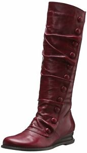 Miz-Mooz-Women-039-s-Bloom-Fashion-KNee-High-Leather-Dress-Wedge-Boot