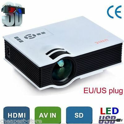 "100"" Screen LED Projector 800x480p HDMI,VGA,SD,AV,USB, 3D(Red/Blue Only)"