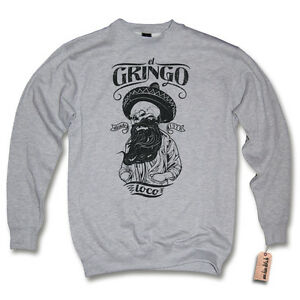 Sweater Pullover Xl Melange L School Mexican Beard Old skull Gringo Gray Xxl S Loco M el Grey BqfxCwBr8