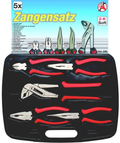 etc BGS//Kraftmann 330 Zangensatz 5 pièces Combi Pince Coupante Téléphone Pince