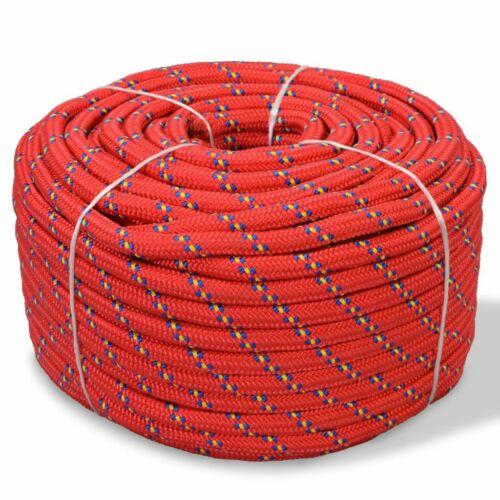 vidaXL Corde Bateau Polypropylène Rouge 10mm Corde de Levage Corde en Bobine