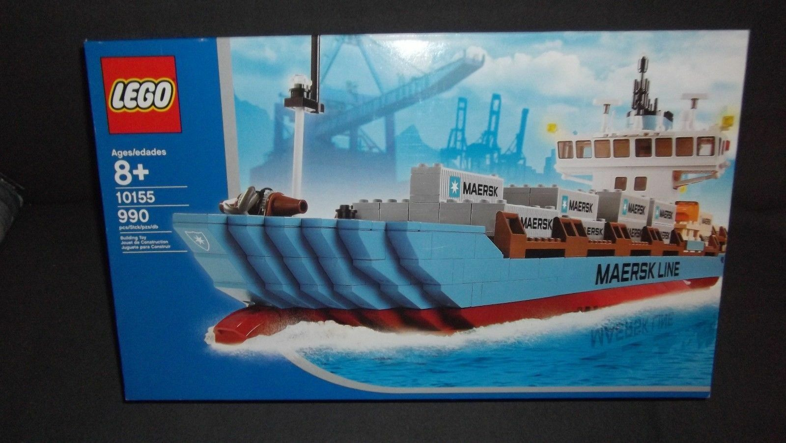 LEGO® Maersk Line Container Ship 10155 New sealed box retired retired retired hard to find a54e84