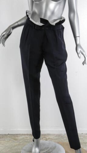 taille Pantalon Burberry en Prorsum haute foncé Paperbag Femme Bleu papier cartonné 6 42 wO8zqwRHr