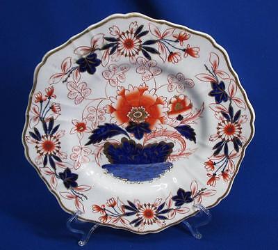 COPELAND GARRETT STAFFORDSHIRE CHINOISERIE PLATE COBALT BLUE & CHINESE RED