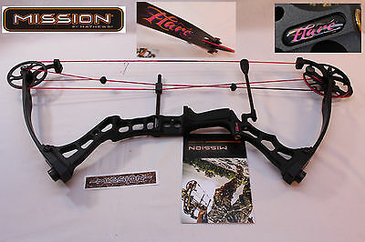 """2014 MISSION FLARE by Mathews BLACK 30- 40# Lbs. DL 24.5""""-29"""" Right Hand"""