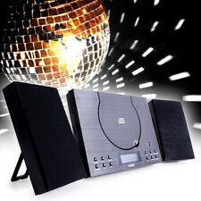 Musik Anlage mit Fernbedienung Stereo Radio Uhr Wecker AUX-IN CD-Spieler Boombox