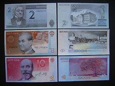 Estonia 2 + 5 + 10 krooni 1994 - 2007 (p85b + p76a + p86b) UNC