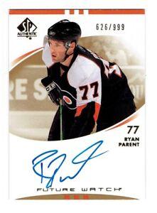 Ryan-Parent-2007-08-SP-Authentic-Autograph-Rookie-Card-236