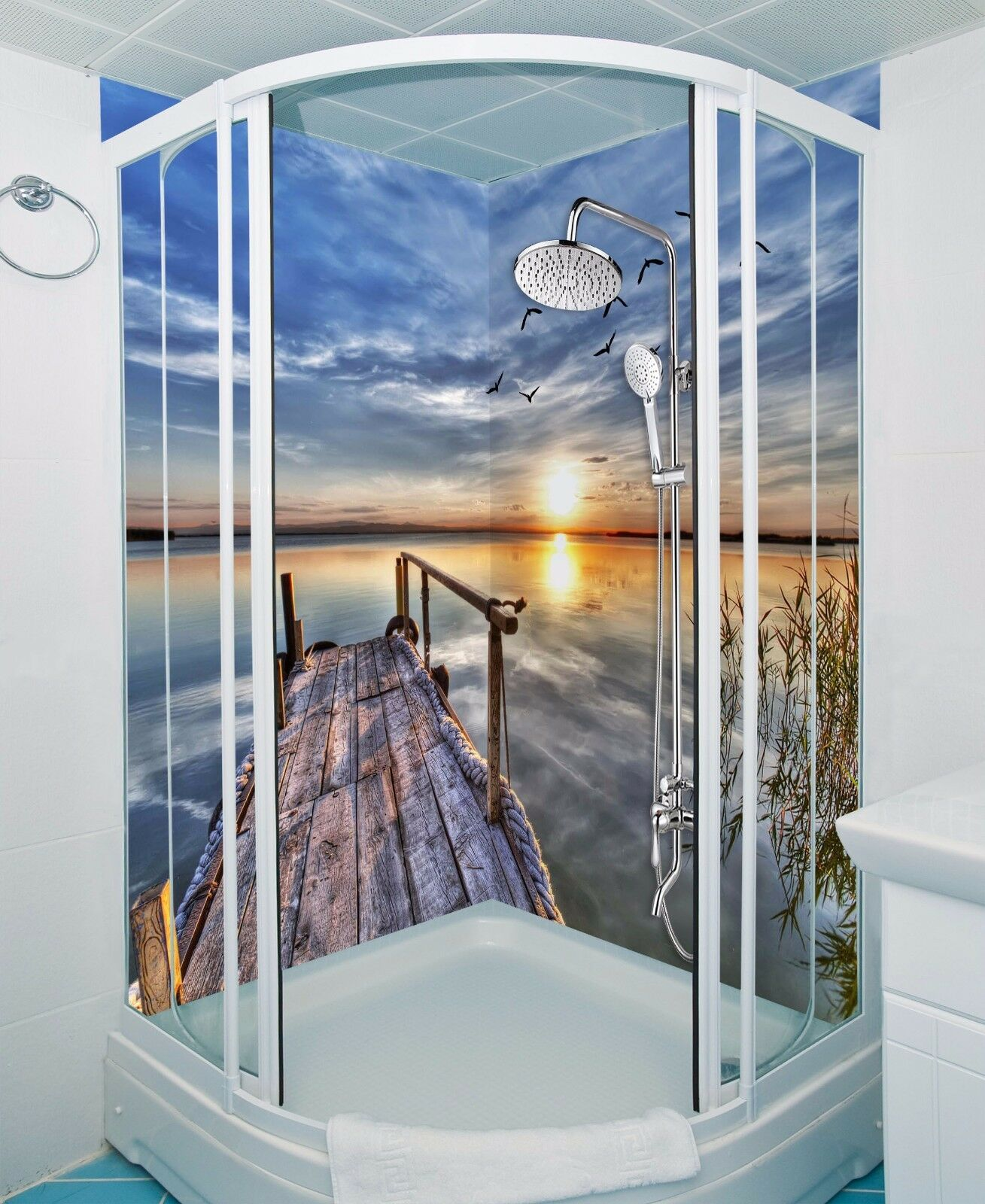 3D Sundowners 769  WallPaper Bathroom Print Decal Wall Deco AJ WALLPAPER AU