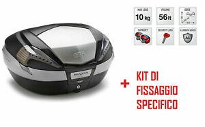 V56nt Bauletto Posteriore 56l + Attacchi Honda Pan European St 1300 2002-2014