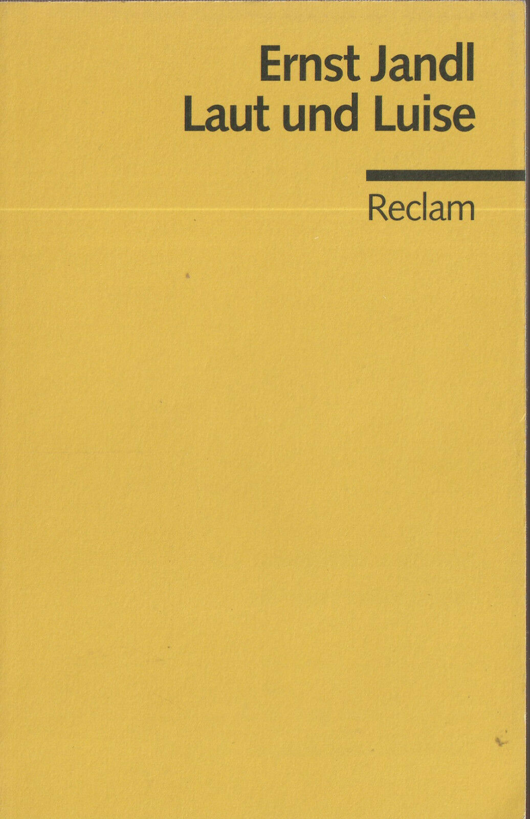 Reclam- 09823 JANDL : LAUT UND LUISE  a