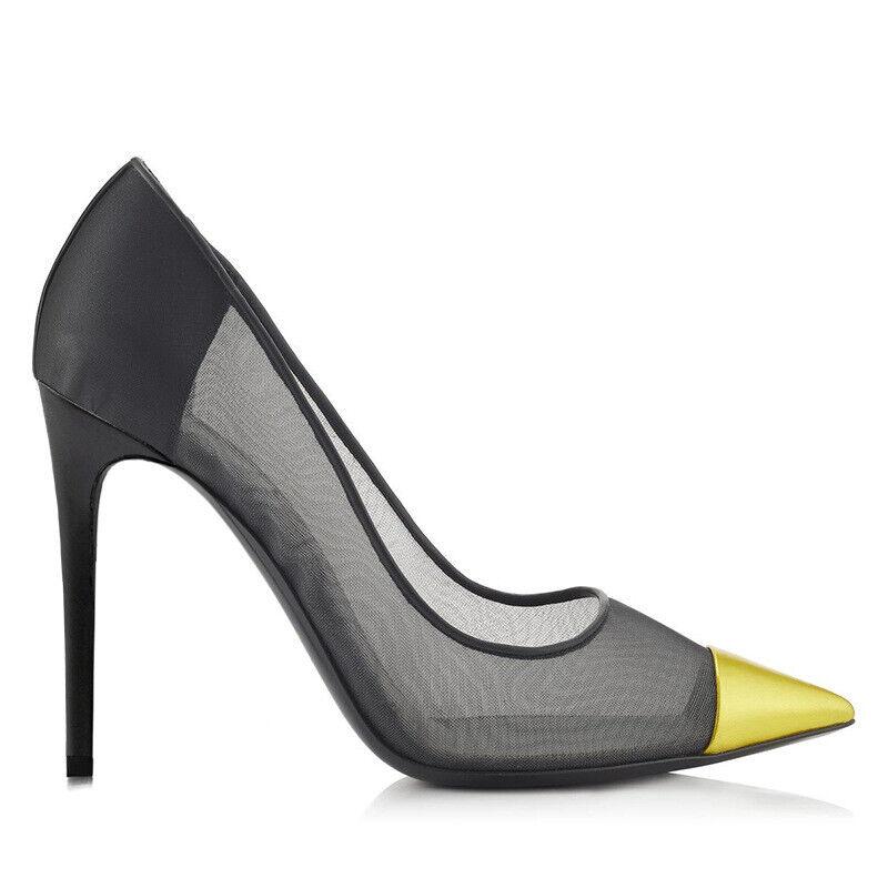 Sexy femmes bout pointu et résille talons hauts chaussures à Enfiler Escarpins Stiletto chaussures plus Sz