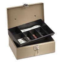Company Lock'n Latch Steel Cash Box W/7 Compartments Key Lock Pebble Beige on sale