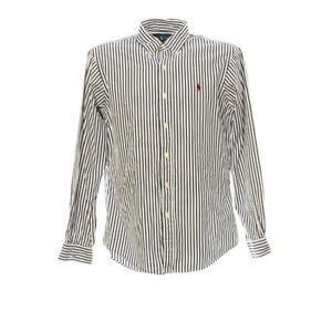 Polo-Ralph-Lauren-Langarmhemd-Gr-M-Herren-Shirt-Gestreift-Baumwolle-Custom-Fit